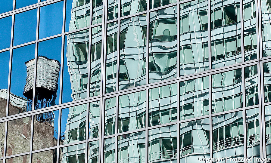 NYC reflections, Old and Modern NYC Architecture, Salvador Dali, New York City<br /> <br /> CLICK ON ADD TO CART ABOVE TO SEE AVAILABLE STYLES, SIZES AND PRICES