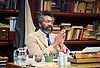 Educating Rita <br /> by Willy Russell<br /> at the Minerva Theatre, Chichester, Great Britain <br /> press photocall <br /> 22 June 2015 <br /> Lenny Henry as Frank <br /> Lashana Lynch as Rita<br /> Director: Michael Buffong<br /> Photograph by Elliott Franks <br />  <br /> Image licensed to Elliott Franks Photography Services