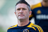 CARSON, CA - July 4, 2012: LA Galaxy forward Robbie Keane (7) prior to the LA Galaxy vs Philadelphia Union match at the Home Depot Center in Carson, California. Final score LA Galaxy 1, Philadelphia Union 2.