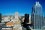 Congress Avenue as seen from the Austonian in Austin Texas, February 11, 2009.  The Austonian is a residential skyscraper currently under construction in Austin. Upon completion in 2009, the building will be the tallest in Austin at 683 feet tall with 56 floors.