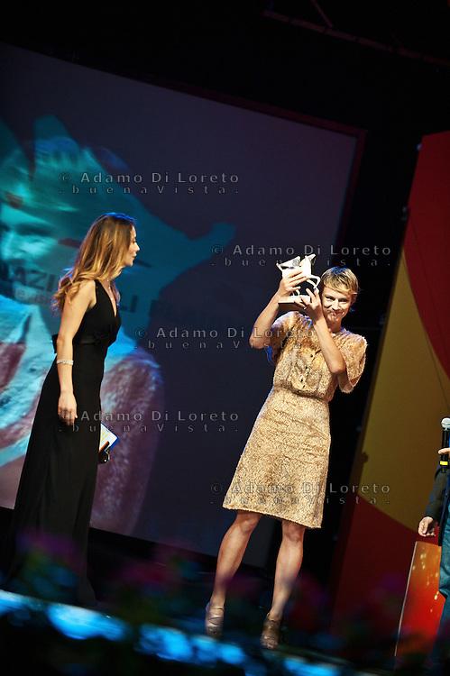 PESCARA (PE) 08/07/2012 - 39° FILM FESTIVAL INTERNAZIONALE FLAIANO. PREMIAZIONE FINALE. IN FOTO L'ATTRICE ANTONIA LISKOVA. FOTO DI LORETO ADAMO