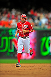 24 May 2009: Washington Nationals' third baseman Ryan Zimmerman rounds the bases after an Adam Dunn homer against the Baltimore Orioles at Nationals Park in Washington, DC. The Nationals rallied to defeat the Orioles 8-5 and salvage one win of their interleague series. Mandatory Credit: Ed Wolfstein Photo