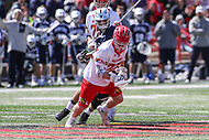 College Park, MD - April 8, 2017: Maryland Terrapins Wesley Janeck (22) gets the ball during game between Penn State and Maryland at  Capital One Field at Maryland Stadium in College Park, MD.  (Photo by Elliott Brown/Media Images International)