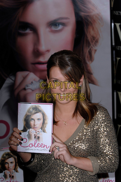 "COLEEN McLOUGHLIN.""Welcome to my World"".at Waterstones bookshop, Oxford Street.8th March 2007 London, England.half length holding book.CAP/PL.©Phil Loftus/Capital Pictures"