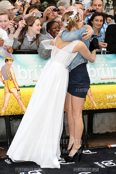 Peaches and Pixie Geldof arriving for the 'Bruno' premiere at The Empire, Leicester square, London