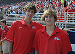 Nathan Dye (left) at Vaught-Hemingway Stadium in Oxford, Miss. on Saturday, September 24, 2011. Georgia won 27-13.
