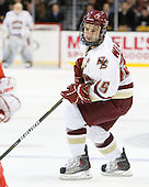 Joe Whitney (BC - 15) - The Boston College Eagles defeated the Boston University Terriers 3-2 (OT) in their Beanpot opener on Monday, February 7, 2011, at TD Garden in Boston, Massachusetts.