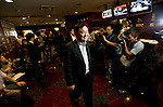 Thaksin Shinawatra, former prime minister of Thailand, heads toward a news conference at the Foreign Correspondents' Club in Tokyo, Japan on 23 Aug. 2011. Photographer: Robert Gilhooly