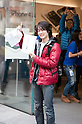 March 16, 2012, Tokyo, Japan - After waiting 37 hours outside Apple store Ryo Watanabe is the first purchaser of the new iPad. .Fans lined up overnight outside the Apple store in Ginza, to buy the new iPad. Japan was one of the first countries where Apple fans could get their hands on the new iPad.