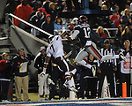 Ole Miss wide receiver Donte Moncrief (12) is unable to catch a pass while defended by Texas A&M defensive back Tramain Jacobs (7) at Vaught-Hemingway Stadium in Oxford, Miss. on Saturday, October 6, 2012. Texas A&M rallied from a 27-17 4th quarter deficit to win 30-27.