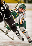 13 November 2015: University of Vermont Catamount Forward Kourtney Menches, a Sophomore from Greer, South Carolina, in action against the Providence College Friars at Gutterson Fieldhouse in Burlington, Vermont. The Lady Friars defeated the Lady Cats 4-1 in Hockey East play. Mandatory Credit: Ed Wolfstein Photo *** RAW (NEF) Image File Available ***