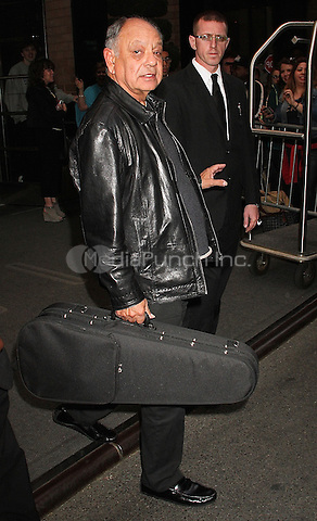 NEW YORK, NY - MAY 19: Cheech Marin spotted leaving his hotel in New York, New York on May 19, 2016. Photo Credit: Rainmaker Photo/MediaPunch