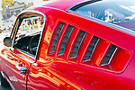 Sept. 15, 2012 - Side vents of Mustang GT350, red with white stripes, at New Hyde Park, New York, U.S. - New York AutoFest at New Hyde Park Car Show and Street Fair.