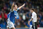 St Johnstone v Dundee.....02.01.13      SPL.Liam Craig celebrates his goal.Picture by Graeme Hart..Copyright Perthshire Picture Agency.Tel: 01738 623350  Mobile: 07990 594431