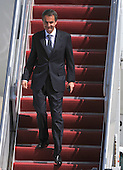 Prime Minister of Spain Jose Luis Rodriguez Zapatero arrives for the Nuclear Security Summit, at Andrews Air Force Base, Maryland, April 12, 2010.  .Credit: Kevin Dietsch / Pool via CNP