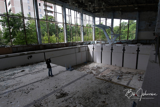 In the swimming hall &quot;Azure&quot; in Pripyat.<br />
