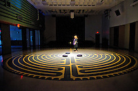 Cindy McQuade walks  the labyrinth at the First United Methodist Church of Santa Monica on Good Friday, March 29, 2013...
