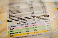 Food labeling Guidelines Showing Nutritional Information - 2014