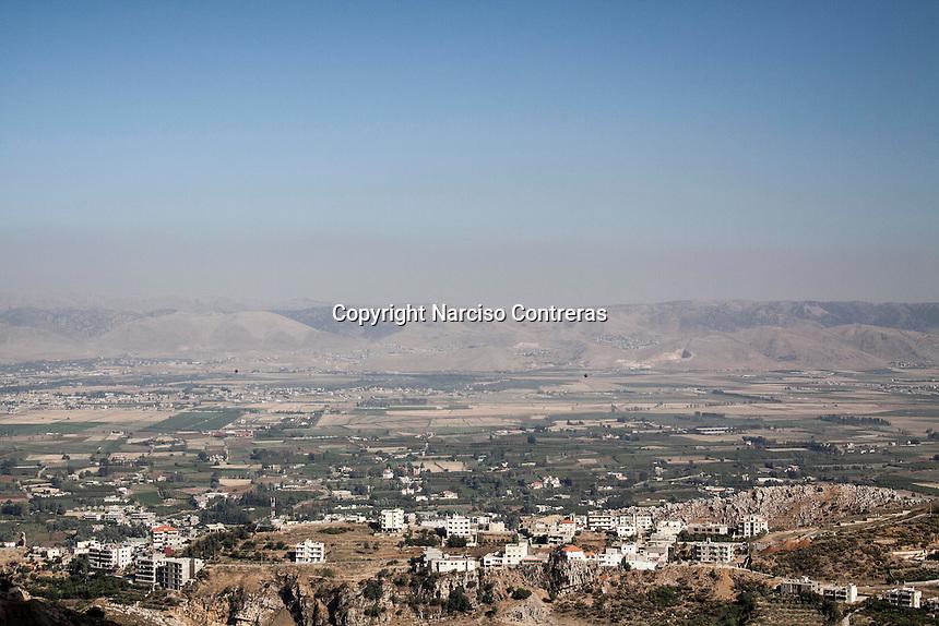 June 11, 2015 - Bekaa Valley, Lebanon: An upper view of Bekaa Valley in east Lebanon. (Photo/Narciso Contreras)