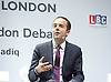 Sadiq Khan<br /> Mayor of London <br /> State of London debate hosted by LBC <br /> at The O2 Arena, London, Great Britain <br /> 30th July 2016 <br /> <br /> <br /> James Murray <br /> Yep Mayor Housing <br /> <br /> <br /> Photograph by Elliott Franks <br /> Image licensed to Elliott Franks Photography Services