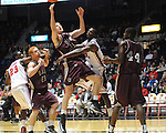 "Arkansas Little Rock's Will Neighbour (53) vs. Ole Miss' Murphy Holloway (31) at the C.M. ""Tad"" Smith Coliseum in Oxford, Miss. on Friday, November 16, 2012. Ole Miss won 92-52."