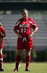 Danielle Malagari, of Maryland, on Sunday, October 16th, 2005 at Duke University's Koskinen Stadium in Durham, North Carolina. The Duke University Blue Devils defeated the University of Maryland Terrapins 1-0 during an NCAA Division I Women's Soccer game.