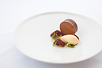 Warm Chocolate with aromatic ice cream, pecans and bourbon