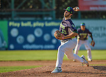 29 June 2014:  Vermont Lake Monsters pitcher A.J. Burke on the mound against the Lowell Spinners at Centennial Field in Burlington, Vermont. The Lake Monsters fell to the Spinners 7-5 in NY Penn League action. Mandatory Credit: Ed Wolfstein Photo *** RAW Image File Available ****