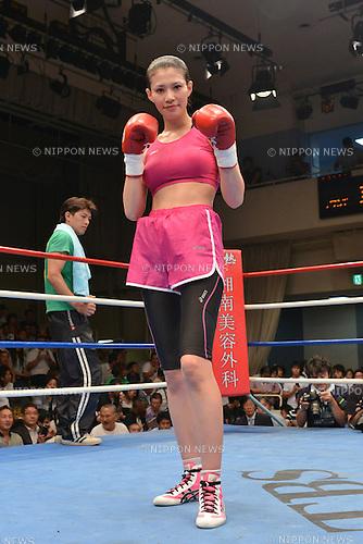 Tomomi Takano (JPN),<br /> JULY 25, 2013 - Boxing :<br /> Tomomi Takano of Japan poses after winning the 4R 116 pound (52.6kg) weight bout at Korakuen Hall in Tokyo, Japan. (Photo by Hiroaki Yamaguchi/AFLO)