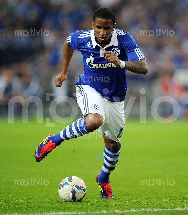 FUSSBALL   EUROPA LEAGUE   SAISON 2011/2012   Play-offs FC Schalke 04 - HJK Helsinki                                25.08.2011 Jefferson FARFAN (FC Schalke 04) Einzelaktion am Ball