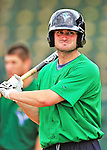 24 July 2010: Vermont Lake Monsters outfielder Connor Rowe awaits his turn in the batting cage prior to a game against the Lowell Spinners at Centennial Field in Burlington, Vermont. The Lake Monsters fell to the Spinners 11-5 in NY Penn League action. Mandatory Credit: Ed Wolfstein Photo
