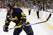 Jeff Velleca (Merrimack - 28) - The Merrimack College Warriors defeated the University of New Hampshire Wildcats 4-1 in their Hockey East Semi-Final on Friday, March 18, 2011, at TD Garden in Boston, Massachusetts.