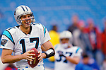Carolina Panthers quarterback Jake Delhomme takes some pre-game practice before facing the Buffalo Bills on November 27, 2005 at Ralph Wilson Stadium in Orchard Park, NY. The Panthers defeated the Bills 13-9. Mandatory Photo Credit: Ed Wolfstein
