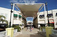 Interior and entrance, La Isla Shopping Village mall in the Zona Hotelera, Cancun, Quintana Roo, Mexico.