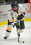 9 February 2008: University of Vermont Catamounts' forward Caroline Donahue, a Senior from Westwood, MA, in action against the Boston University Terriers at Gutterson Fieldhouse in Burlington, Vermont. The Terriers shut out the Catamounts 2-0 in the Hockey East matchup...Mandatory Photo Credit: Ed Wolfstein Photo