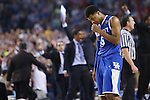 UK guard Andrew Harrison (5) walks off the court after the NCAA Championship vs. UConn at the AT&T Stadium in Arlington, Tx., on Monday, April 7, 2014. Photo by Emily Wuetcher | Staff