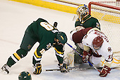 Matt White (Vermont - 19), Rob Madore (Vermont - 29), Cam Atkinson (BC - 13) - The Boston College Eagles defeated the visiting University of Vermont Catamounts 6-0 on Sunday, November 28, 2010, at Conte Forum in Chestnut Hill, Massachusetts.