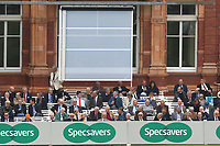 The sight screen is adjusted during Middlesex CCC vs Essex CCC, Specsavers County Championship Division 1 Cricket at Lord's Cricket Ground on 21st April 2017