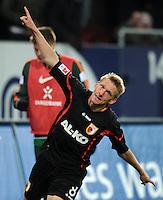FUSSBALL   1. BUNDESLIGA  SAISON 2011/2012   10. Spieltag FC Augsburg - SV Werder Bremen           21.10.2011 Jubel nach dem Tor zum 1:0 durch Axel Bellinghausen (FC Augsburg)