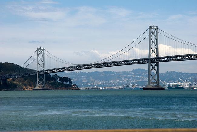 SF Bay Bridge connects to Angel Island