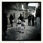 Villagers masked are seen through the streets of Laza, in Ourense during carnival, on 19 de febrero 2012. (c) Pedro ARMESTRE