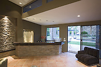Wet bar in modern home