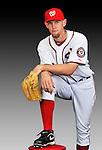 25 February 2011: Washington Nationals' pitcher Stephen Strasburg poses for his Photo Day portrait at Space Coast Stadium in Viera, Florida. Mandatory Credit: Ed Wolfstein Photo