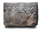 Picture & image of a Neo-Hittite orthostat showing goddess Kubaba  from  the legend of Gilgamesh from Karkamis,, Turkey. Ancora Archaeological Museum. 5