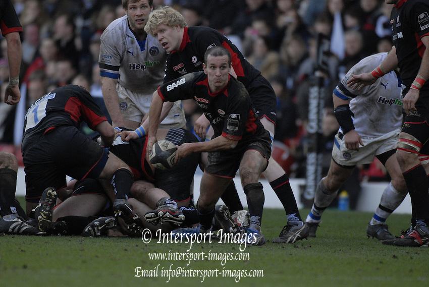 Watford, GREAT BRITAIN,  during the Guinness Premiership game, Saracens vs Bath Rugby at Vicarage Road. 27.01.2008 [Mandatory Credit Peter Spurrier/Intersport Images]
