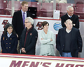 Deborah MacLeod, Greg Brown (BC - Associate Head Coach), Allan MacLeod, Shelagh Hayes, Jerry York (BC - Head Coach), Kevin Hayes - The visiting University of Notre Dame Fighting Irish defeated the Boston College Eagles 2-1 in overtime on Saturday, March 1, 2014, at Kelley Rink in Conte Forum in Chestnut Hill, Massachusetts.