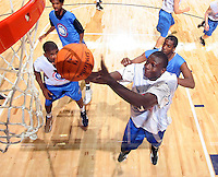 WF Jordan Hamilton (Los Angeles, CA / Dorsey) gets the rebound during the NBA Top 100 Camp held Thursday June 21, 2007 at the John Paul Jones arena in Charlottesville, Va. (Photo/Andrew Shurtleff)