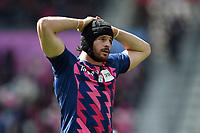 Hugh Pyle of Stade Francais looks on. European Rugby Challenge Cup Semi Final, between Stade Francais and Bath Rugby on April 23, 2017 at the Stade Jean-Bouin in Paris, France. Photo by: Patrick Khachfe / Onside Images