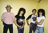 TRUST<br />  - L-R: Nicko McBrain, Yves Brusco, Bernie Bonvoisin, Nono Krief - Jun 1981.   Photo credit: Veuige/ Dalle/IconicPix