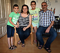 REFUGEE CRISIS IN AUSTRIA. GEORGE CASE STUDY. LEFT TO RIGHT: SUBHY, 7, DIALA, LEYLA, 10 AND GEORGE.  PHOTO BY CLARE KENDALL. 12/08/15.